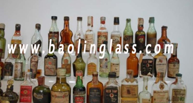 Liquor glass bottle China factory