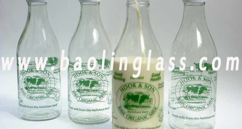 Vintage Glass Milk Bottles factory