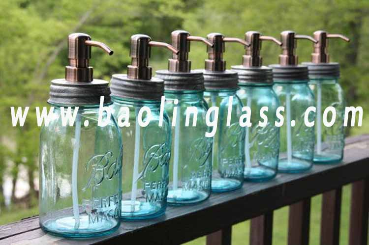 2ae9a4f2eed7 Mason Jar Soap Dispenser with Copper Metal Pump