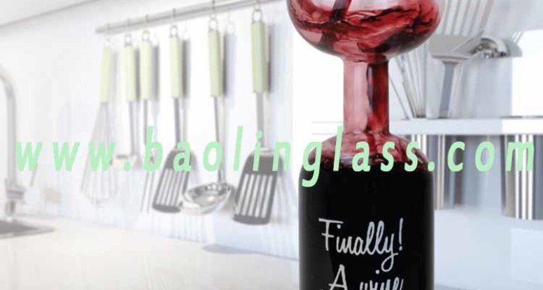 Wine Bottle Glass Holds a Whole Bottle of Wine Full Drink China supplier