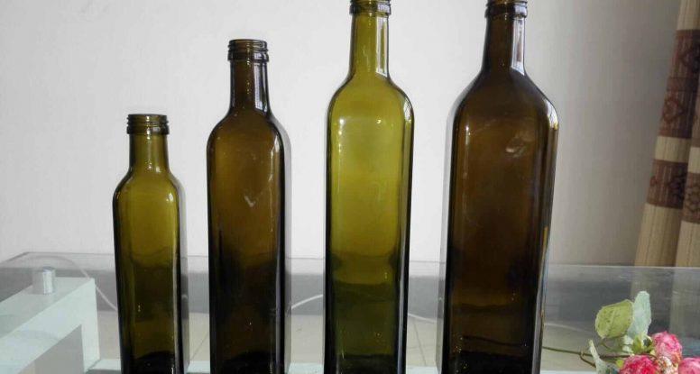virgin olive oil glass bottle