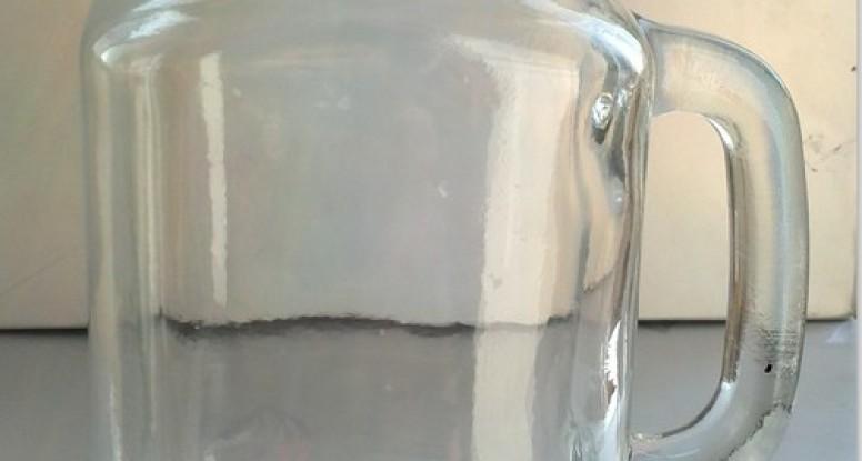 16oz glass mason jar with handle