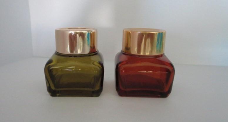 20g square cosmetic cream glass jar