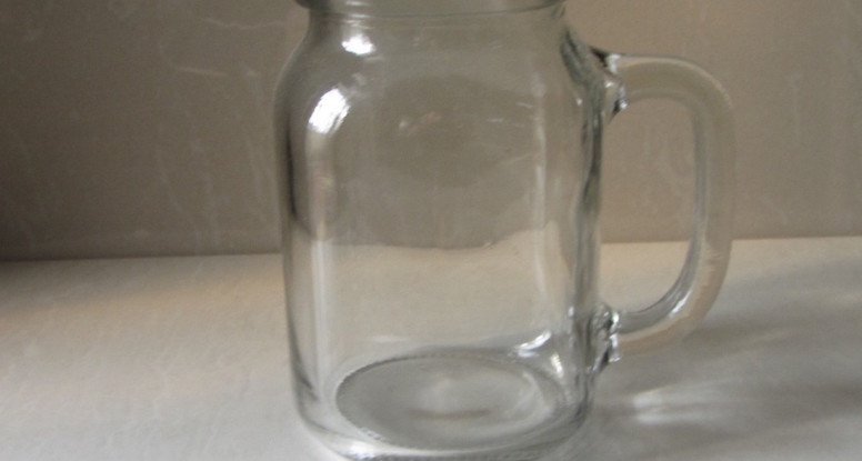 8oz glass mason jar for drinking
