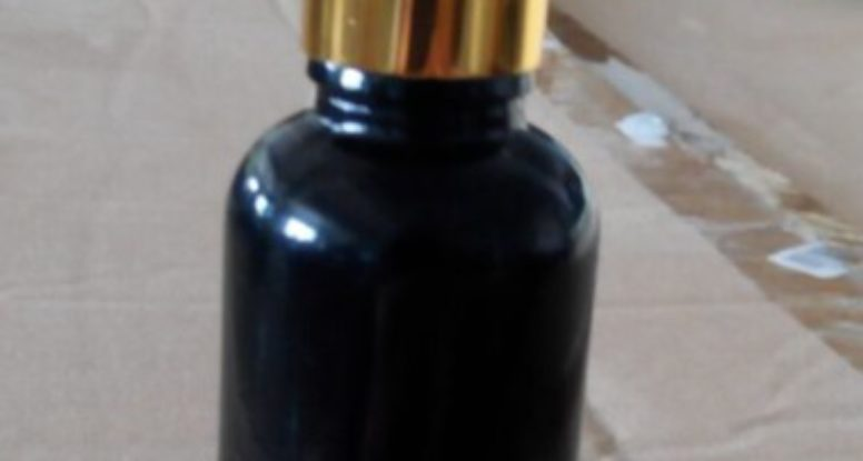 1oz 30ml Shiny black glass dropper jar