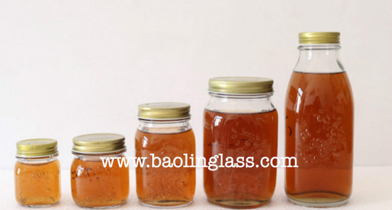 300ml 500ml 1000ml canning and storing food mason jar