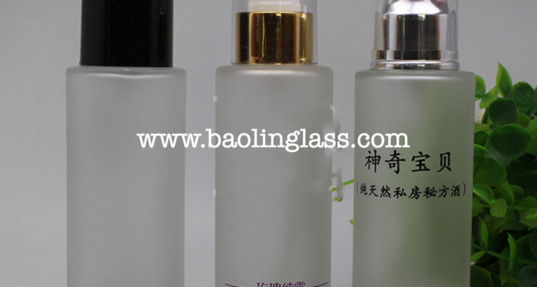 100ml lotion skin milk frosted glass bottle