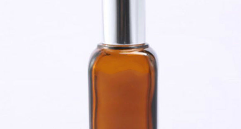50ml Amber square essential oil glass bottle with child-proof dropper cap