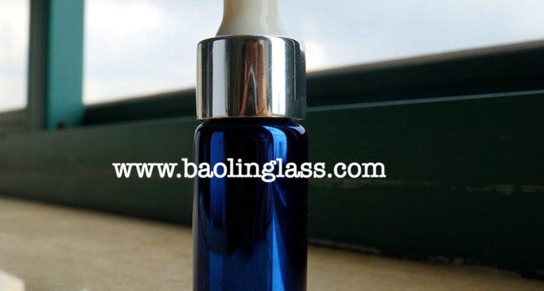 8ml UV coating blue glass dropper jar