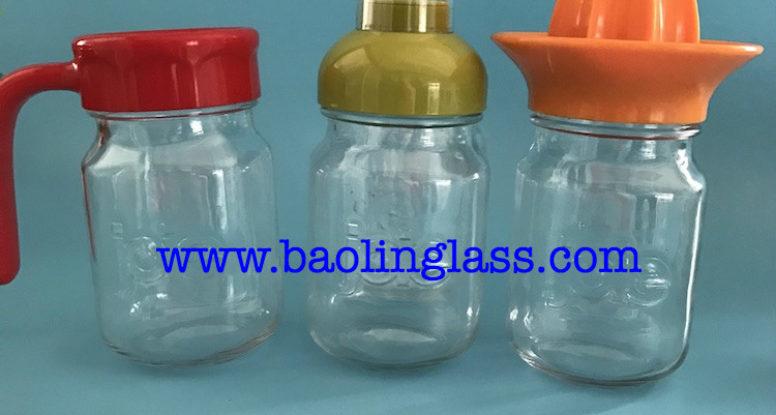 Glass bottle jar for juice fruit press