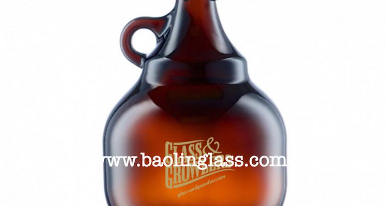 68oz 2L Palla amber beer growler with swing flip top