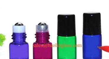 1ml 2ml mini glass roll on bottles