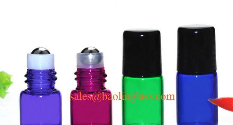 1ml 2ml mini glass roll on bottles