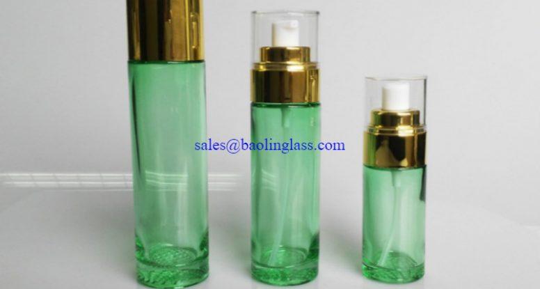 40ml 80ml 100ml glass serum pump bottle