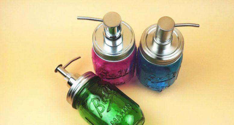 Colorful ball mason jar for soap liquid