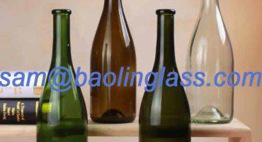 glass champagne bottle