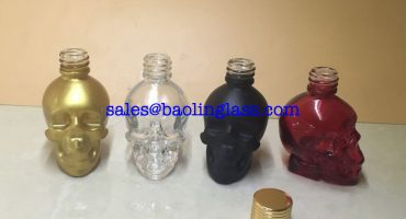 30ML SKULL SHAPED GLASS DROPPER BOTTLE