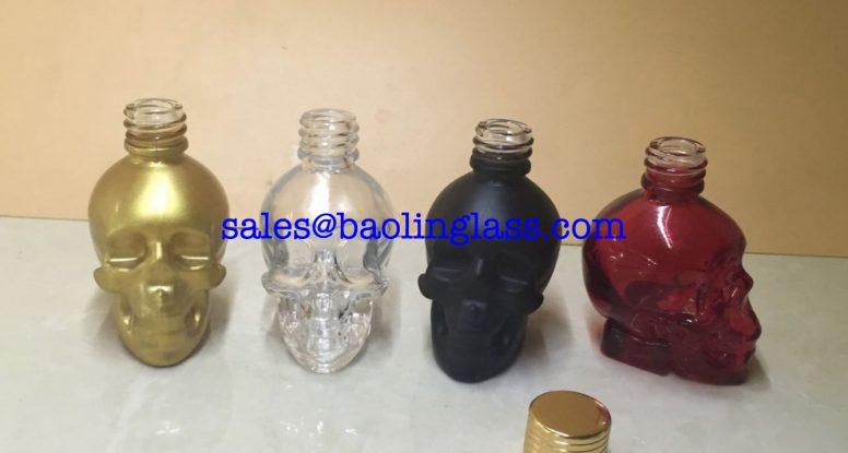 30ML SKULL SHAPED GLASS DROPPER BOTTLE