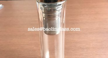 500ml double wall hot glass tea infuser water bottle