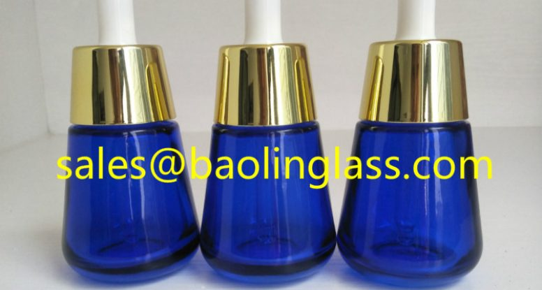 30ml serum blue glass bottle with dropper