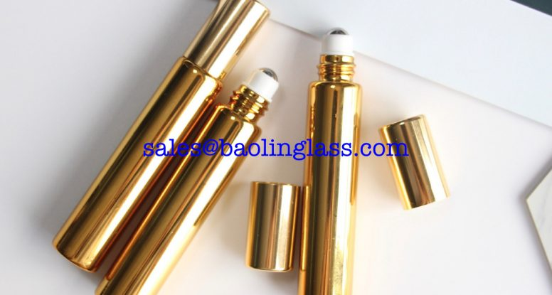10ml Electroplating gold roll on bottle