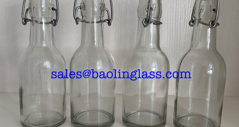 250ml glass bottle with swing top