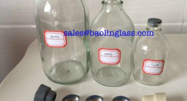250ml infusion glass bottle