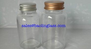 100ml vitamin glass bottle with aluminum cap