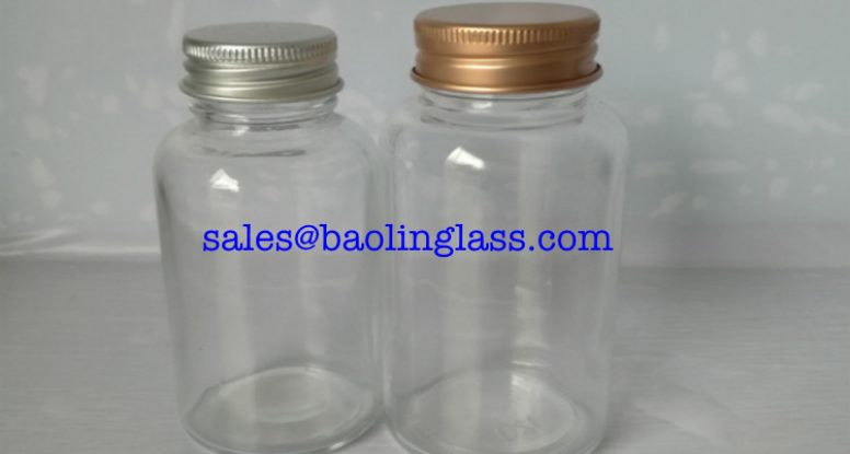 100ml vitamin glass bottle with aluminum cap